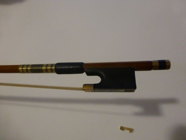 VIOLIN BOW, QUALITY HAND MADE, 4/4 FULL SIZE, BRAZILWOOD, EBONY FROG, UK SELLER